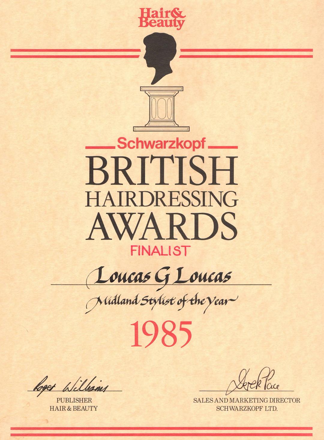 stone hair art - award 1985