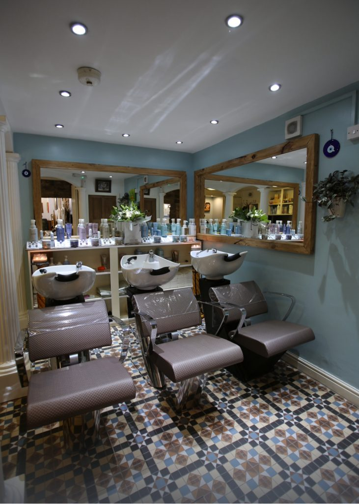 stone hair art treatment room