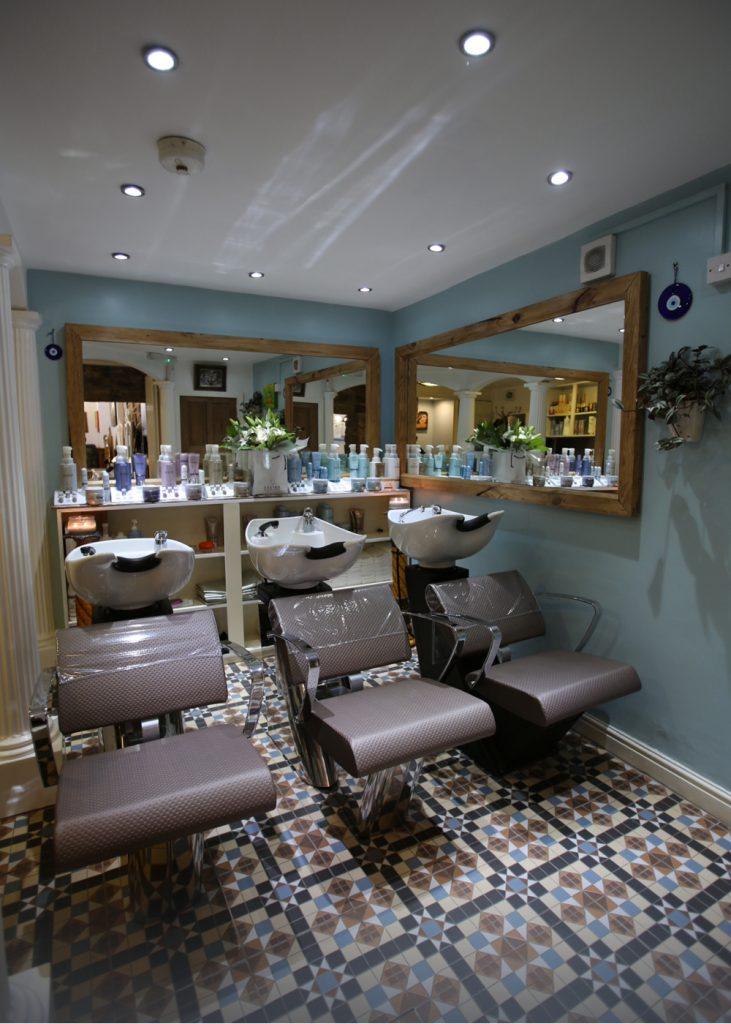 stone hair art treatment room